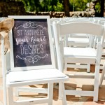 Ceremony-Chalkboard-Sign-on-White-Chair