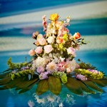 Floral-Arrangement-in-Pool