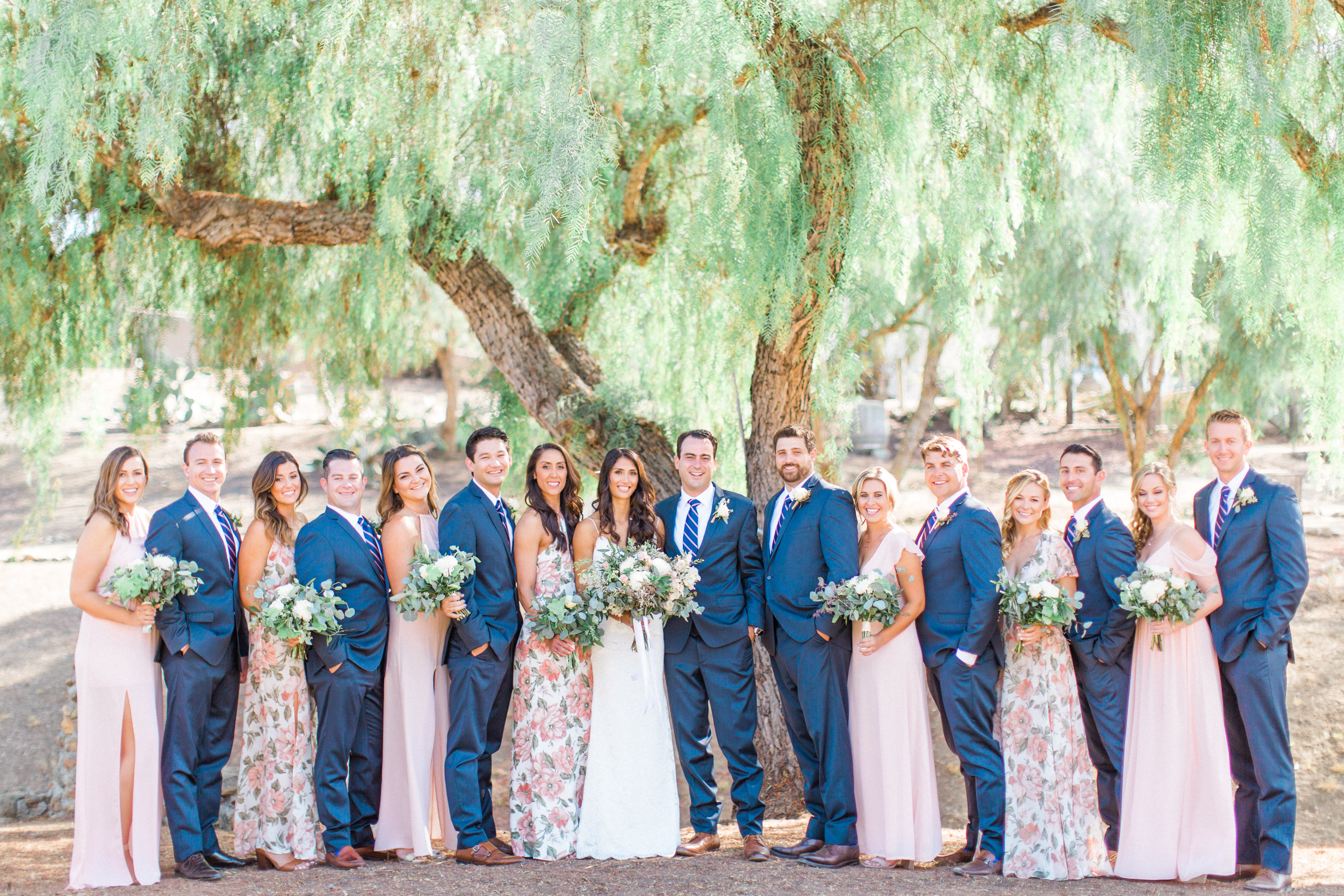 When It Comes To Styling Your Wedding Party We Always Love Those Diffe Color Hues And Patterns From A Mix Of Fl Pink At H C S
